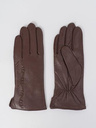 Перчатки кожа, цвет коричневый, арт. 07811063  - цена 1410 руб.  - магазин TOTOGROUP