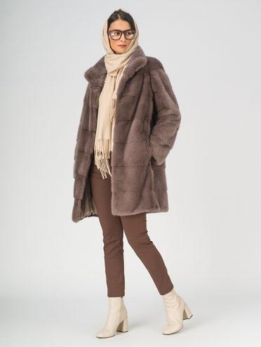 Шуба из норки мех норка крашен., цвет коричневый, арт. 07811123  - цена 79990 руб.  - магазин TOTOGROUP