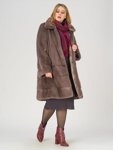 Шуба мех норка крашен., цвет коричневый, арт. 07811134  - цена 89990 руб.  - магазин TOTOGROUP