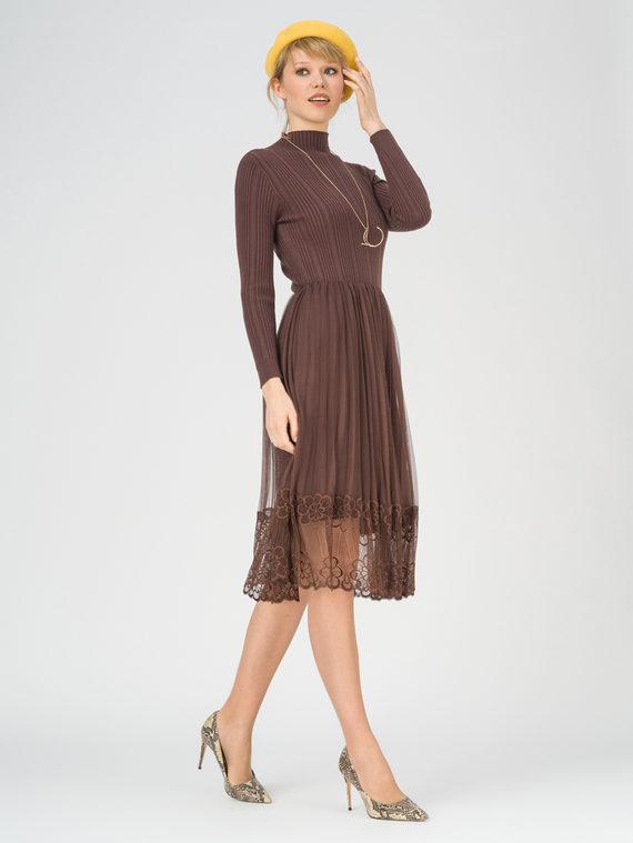 Платье 50% вискоза, 28% полиэстер, 22% нейлон, цвет коричневый, арт. 07811161  - цена 3790 руб.  - магазин TOTOGROUP