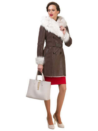 Дубленка дуб. овчина, цвет коричневый, арт. 07900622  - цена 47490 руб.  - магазин TOTOGROUP