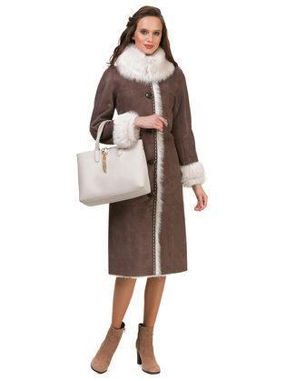Дубленка дуб. овчина, цвет коричневый, арт. 07900623  - цена 49990 руб.  - магазин TOTOGROUP