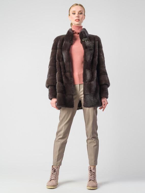Шуба из норки мех норка, цвет темно-коричневый, арт. 07900833  - цена 105990 руб.  - магазин TOTOGROUP