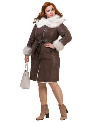 Дубленка дуб. овчина, цвет коричневый, арт. 07900896  - цена 37990 руб.  - магазин TOTOGROUP