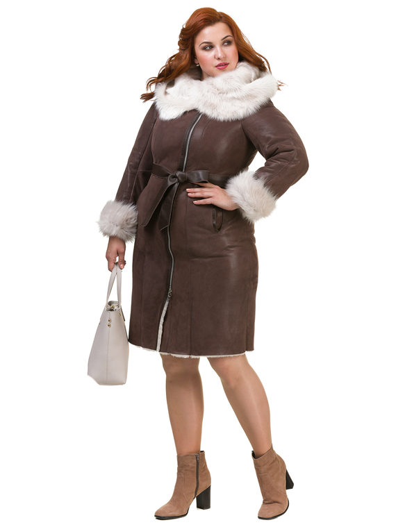 Дубленка дуб. овчина, цвет коричневый, арт. 07900896  - цена 23990 руб.  - магазин TOTOGROUP