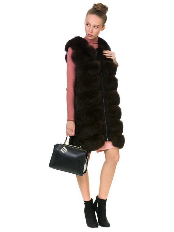 Меховой жилет мех песец, цвет темно-коричневый, арт. 07901161  - цена 12690 руб.  - магазин TOTOGROUP