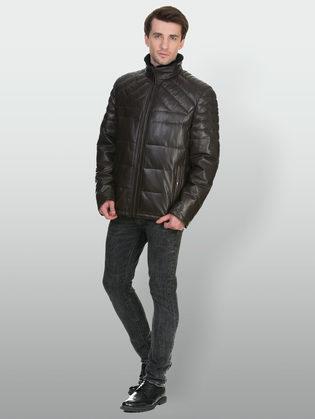 Кожаная куртка кожа овца, цвет коричневый, арт. 07902674  - цена 21290 руб.  - магазин TOTOGROUP