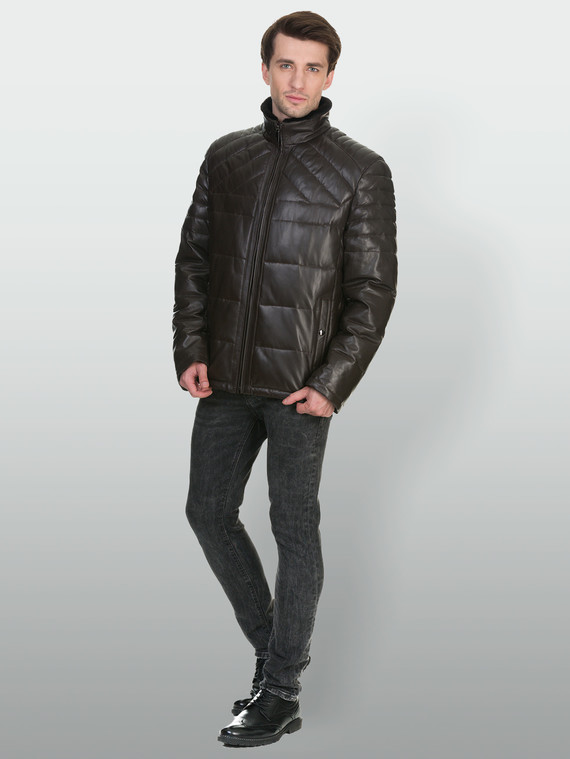 Кожаная куртка кожа , цвет коричневый, арт. 07902674  - цена 18990 руб.  - магазин TOTOGROUP