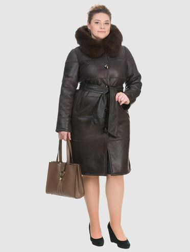 Дубленка эко-кожа 100% П/А, цвет темно-коричневый, арт. 07902690  - цена 6630 руб.  - магазин TOTOGROUP