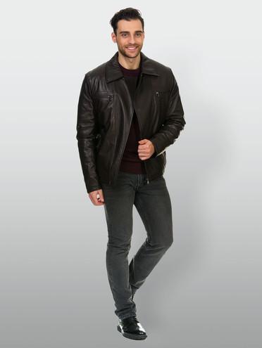 Кожаная куртка кожа , цвет коричневый, арт. 07902979  - цена 6630 руб.  - магазин TOTOGROUP