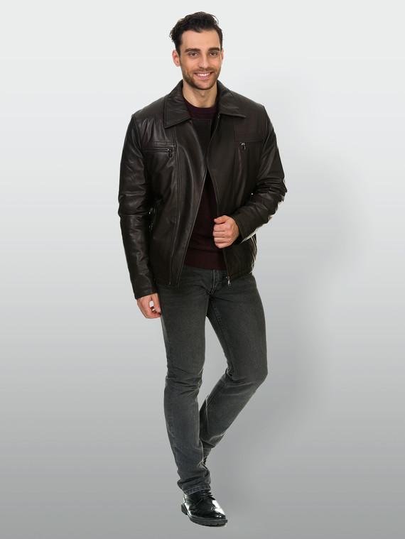 Кожаная куртка кожа , цвет коричневый, арт. 07902979  - цена 16990 руб.  - магазин TOTOGROUP