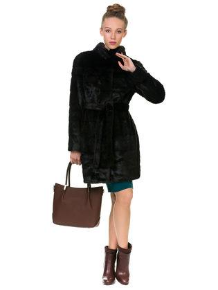 Шуба под норку мех под норку, цвет темно-коричневый, арт. 07902992  - цена 12690 руб.  - магазин TOTOGROUP