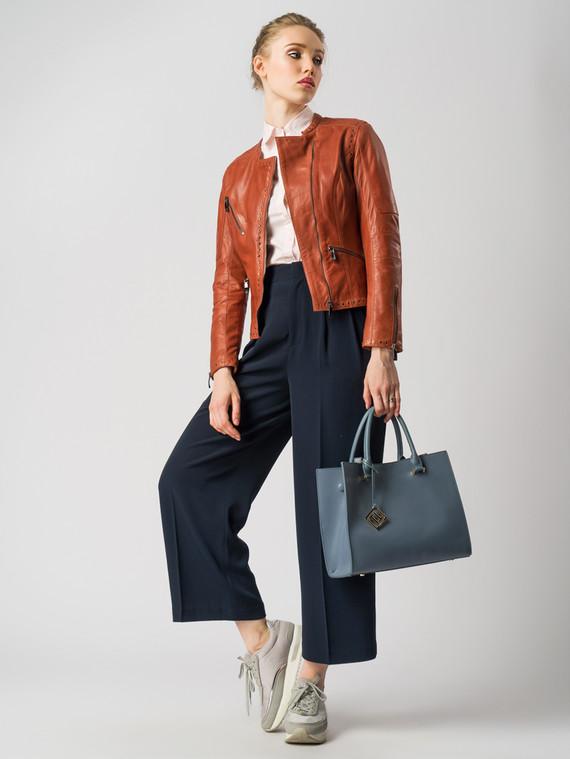 Кожаная куртка кожа , цвет рыжий, арт. 08005506  - цена 6990 руб.  - магазин TOTOGROUP