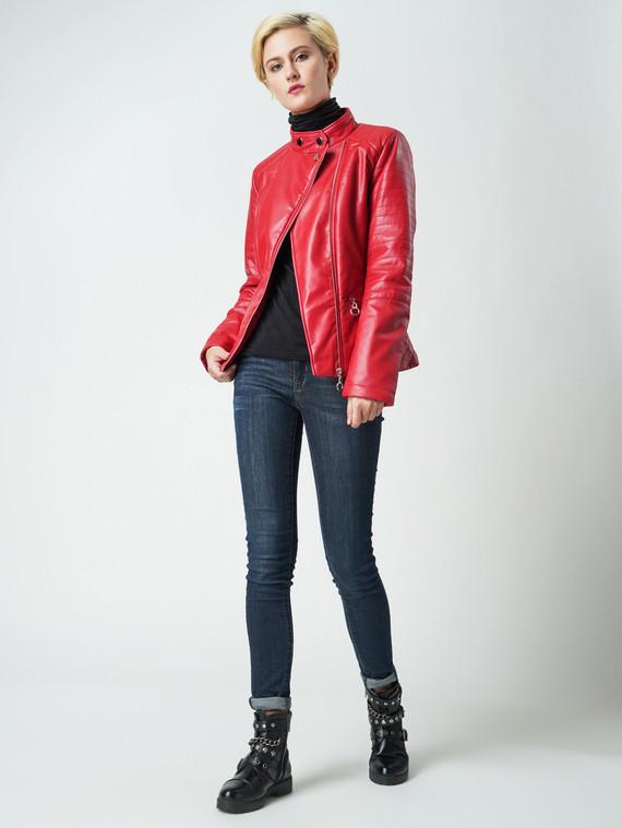 Кожаная куртка эко-кожа 100% П/А, цвет красный, арт. 08005566  - цена 4490 руб.  - магазин TOTOGROUP