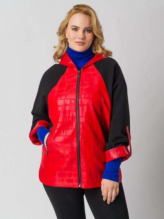 Кожаная куртка эко кожа 100% П/А, цвет красный, арт. 08005791  - цена 7490 руб.  - магазин TOTOGROUP