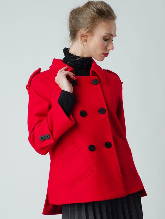 Текстильная куртка 30%шерсть, 70% п\а, цвет красный, арт. 08005836  - цена 5590 руб.  - магазин TOTOGROUP