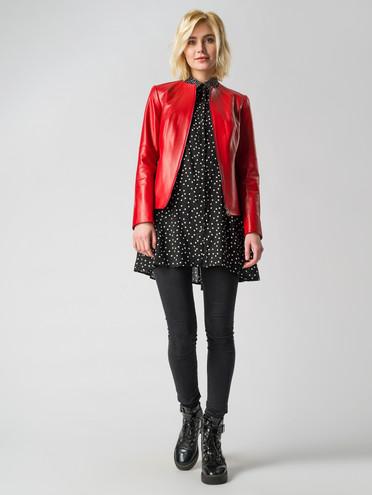 Кожаная куртка кожа, цвет красный, арт. 08005902  - цена 5890 руб.  - магазин TOTOGROUP