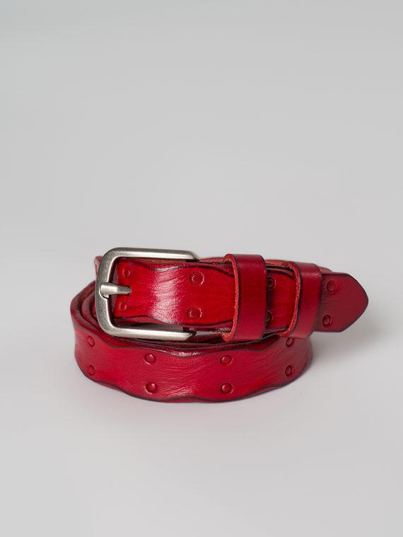 Ремень кожа корова, цвет красный, арт. 08005906  - цена 1190 руб.  - магазин TOTOGROUP