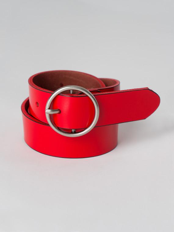 Ремень кожа корова, цвет красный, арт. 08005924  - цена 740 руб.  - магазин TOTOGROUP
