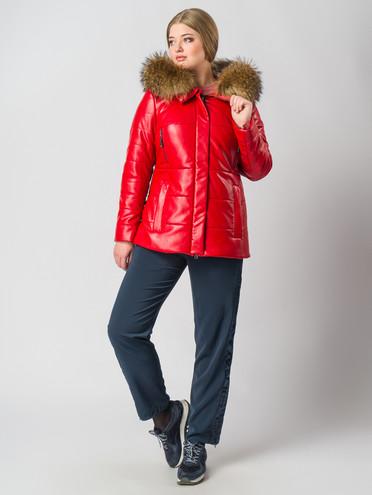 Кожаная куртка эко кожа 100% П/А, цвет красный, арт. 08006323  - цена 11290 руб.  - магазин TOTOGROUP