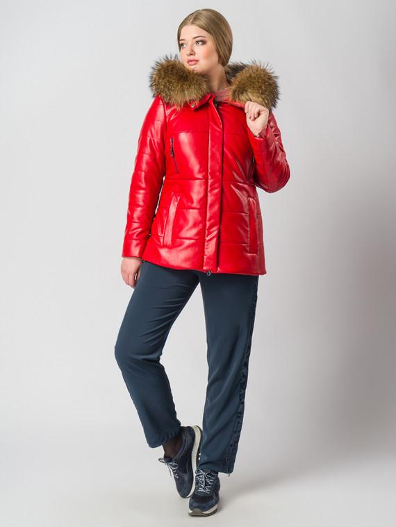 Кожаная куртка эко-кожа 100% П/А, цвет красный, арт. 08006323  - цена 4990 руб.  - магазин TOTOGROUP