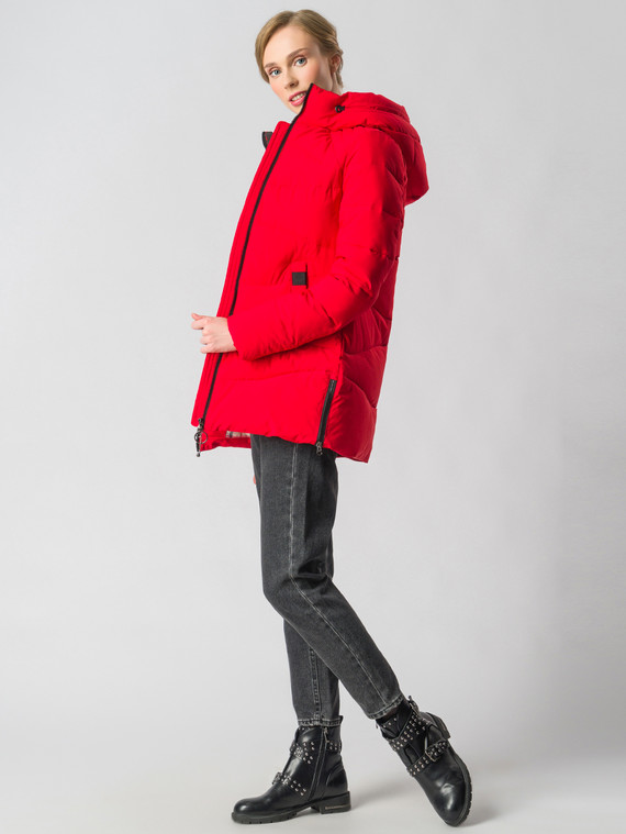 Пуховик текстиль, цвет красный, арт. 08006574  - цена 3990 руб.  - магазин TOTOGROUP