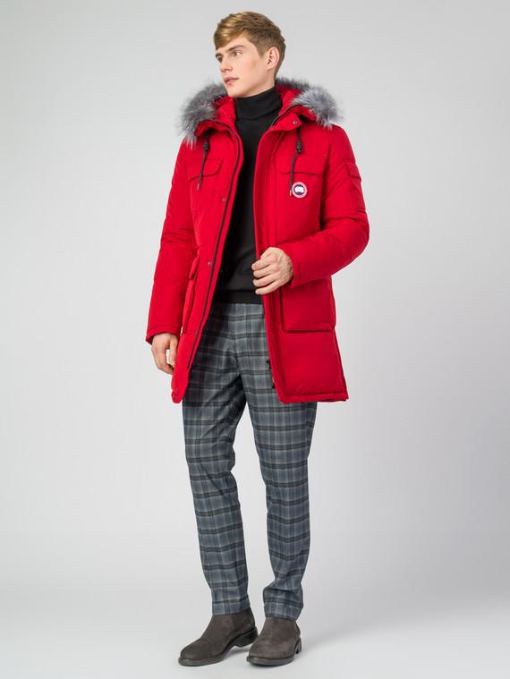 Пуховик текстиль, цвет красный, арт. 08006783  - цена 6630 руб.  - магазин TOTOGROUP