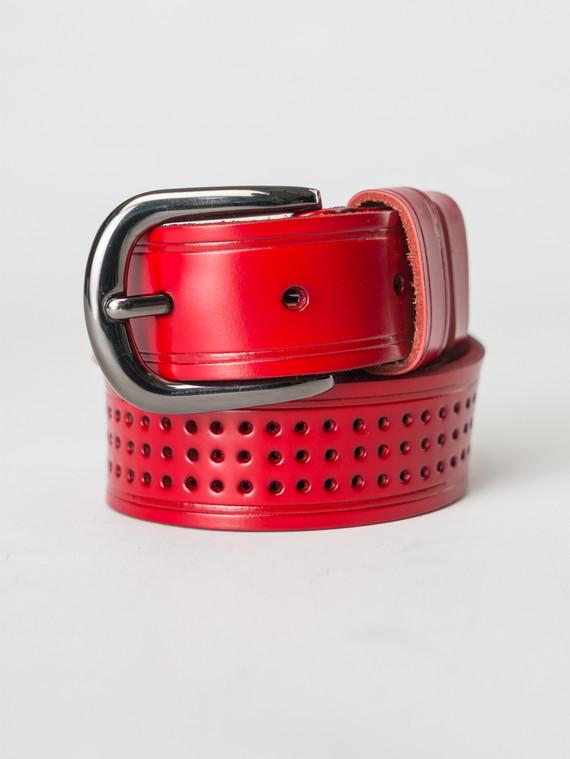 Ремень кожа теленок, цвет красный, арт. 08007249  - цена 990 руб.  - магазин TOTOGROUP