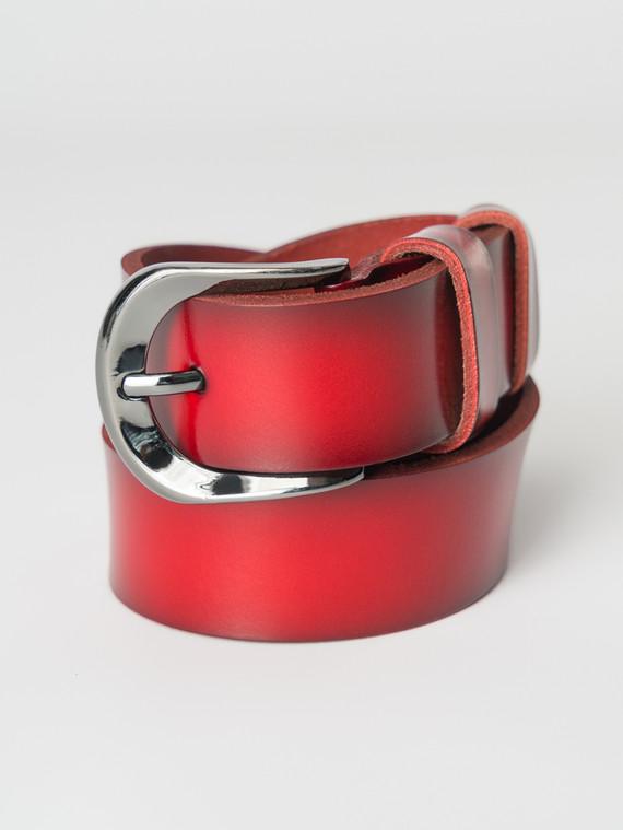 Ремень кожа теленок, цвет красный, арт. 08007251  - цена 990 руб.  - магазин TOTOGROUP