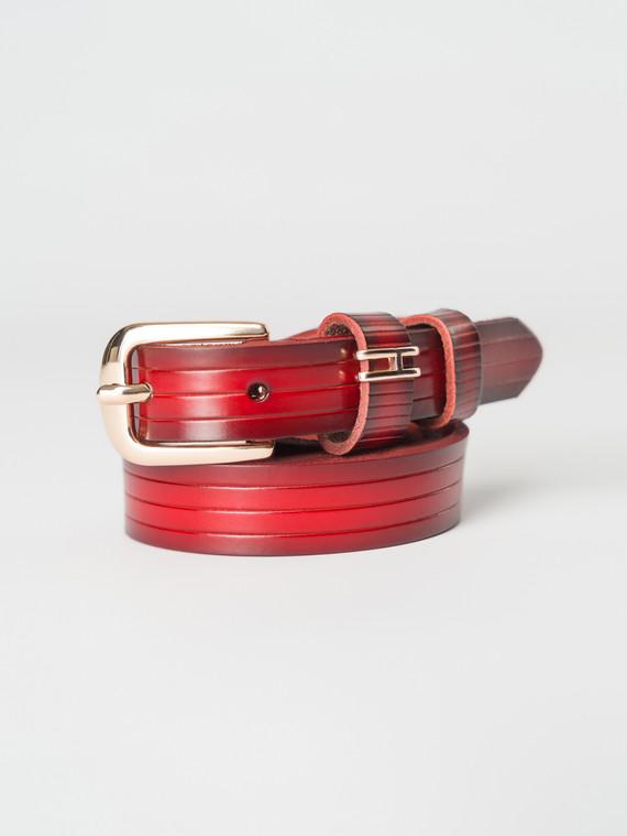 Ремень кожа теленок, цвет красный, арт. 08007255  - цена 840 руб.  - магазин TOTOGROUP