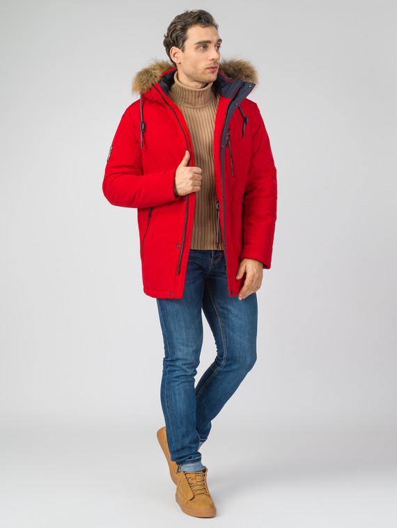 Пуховик 82% п/э. 18% хлопок, цвет красный, арт. 08007459  - цена 11990 руб.  - магазин TOTOGROUP