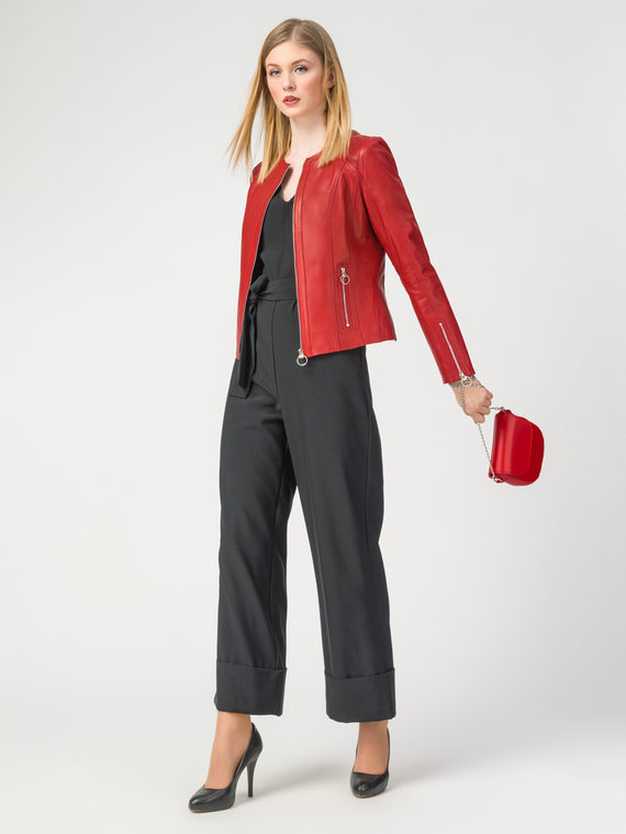 Кожаная куртка кожа , цвет красный, арт. 08106252  - цена 9490 руб.  - магазин TOTOGROUP