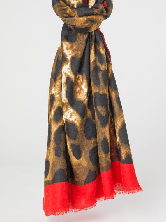 Шарф 100% хлопок, цвет красный, арт. 08107788  - цена 790 руб.  - магазин TOTOGROUP