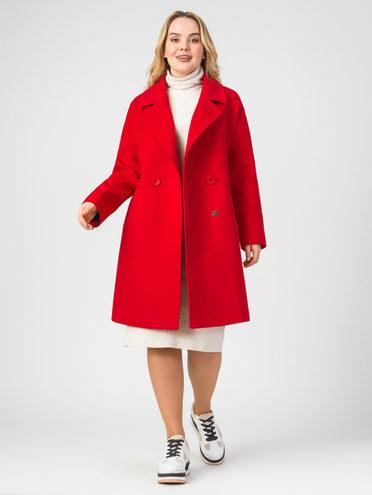 Текстильное пальто 30% шерсть, 70% п.э, цвет красный, арт. 08107897  - цена 4740 руб.  - магазин TOTOGROUP