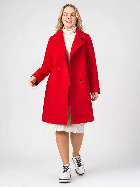 Текстильное пальто 30%шерсть, 70% п.э, цвет красный, арт. 08107897  - цена 5590 руб.  - магазин TOTOGROUP