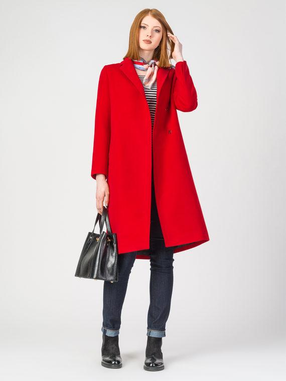 Текстильное пальто 30%шерсть, 70% п.э, цвет красный, арт. 08107899  - цена 4490 руб.  - магазин TOTOGROUP
