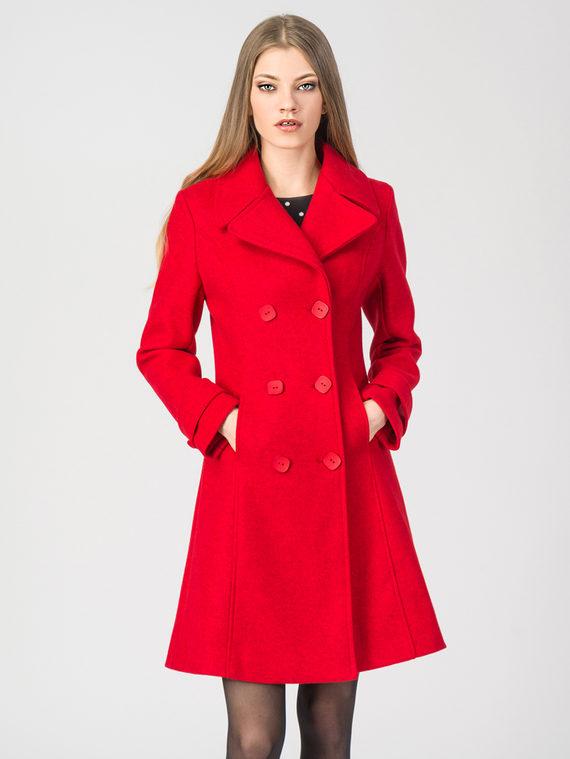 Текстильное пальто 30%шерсть, 70% п.э, цвет красный, арт. 08107919  - цена 3990 руб.  - магазин TOTOGROUP
