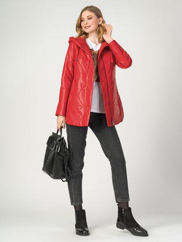 Кожаная куртка эко-кожа 100% П/А, цвет красный, арт. 08108090  - цена 4490 руб.  - магазин TOTOGROUP