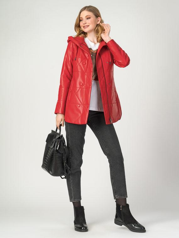 Кожаная куртка эко-кожа 100% П/А, цвет красный, арт. 08108090  - цена 5890 руб.  - магазин TOTOGROUP