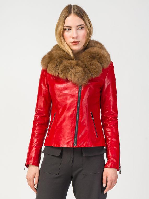 Кожаная куртка эко-кожа 100% П/А, цвет красный, арт. 08108110  - цена 12690 руб.  - магазин TOTOGROUP