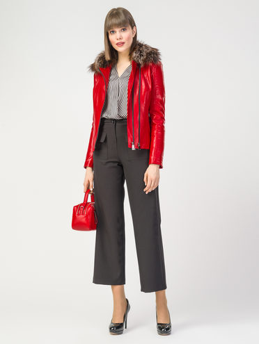 Кожаная куртка эко-кожа 100% П/А, цвет красный, арт. 08108111  - цена 8490 руб.  - магазин TOTOGROUP