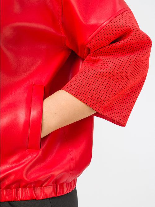 Кожаная куртка артикул 08108162/46 - фото 4