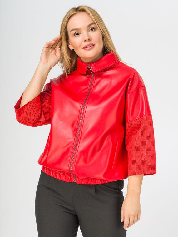 Кожаная куртка эко-кожа 100% П/А, цвет красный, арт. 08108162  - цена 4990 руб.  - магазин TOTOGROUP