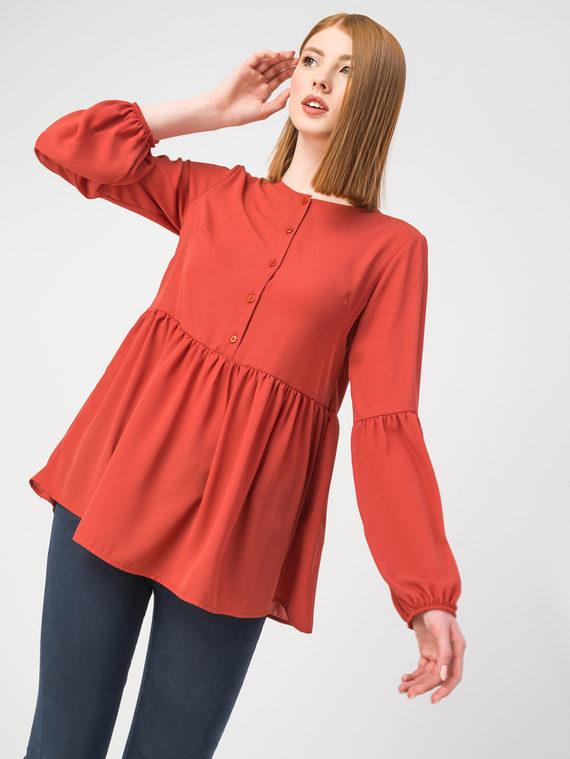 Блуза 100% полиэстер, цвет красный, арт. 08108317  - цена 2690 руб.  - магазин TOTOGROUP