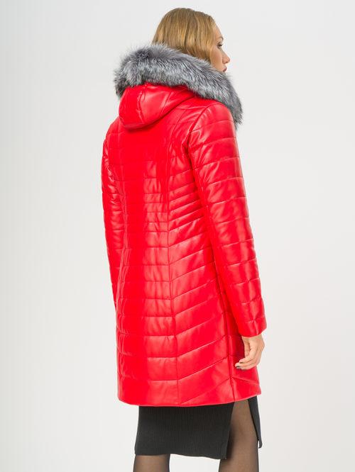 Кожаное пальто артикул 08108847/42 - фото 3