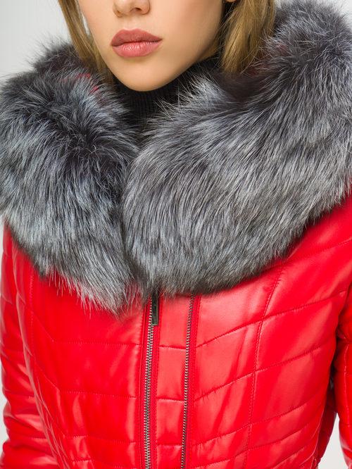 Кожаное пальто артикул 08108847/42 - фото 4