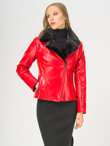 Кожаная куртка эко-кожа 100% П/А, цвет красный, арт. 08109079  - цена 9990 руб.  - магазин TOTOGROUP