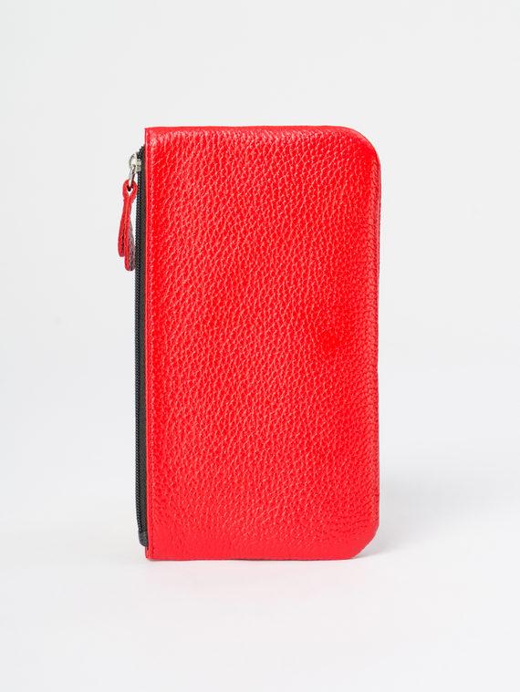 Кошелек кожа теленок, цвет красный, арт. 08109795  - цена 1410 руб.  - магазин TOTOGROUP
