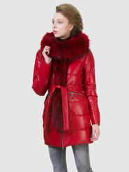 Кожаное пальто артикул 08602762/42 - фото 2