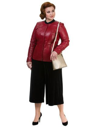 Кожаная куртка кожа овца, цвет красный, арт. 08700028  - цена 13990 руб.  - магазин TOTOGROUP